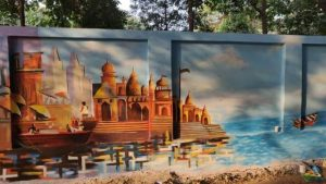 painted city walls of prayagraj for ardh kumbh