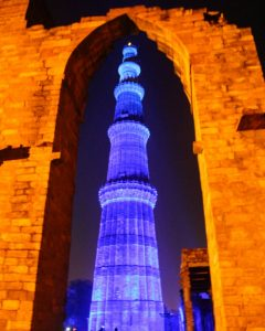 Delhi's pride Qutub Minar embellished with LED lights